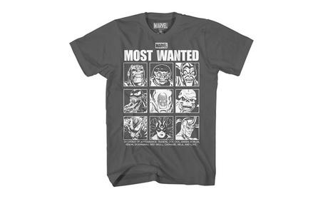 Marvel Wanted Villains Thanos Doc Ock Green Goblin Venom Red Skull T-shirt 579f1f87-ca15-4049-a7ed-2b9f31dd5ed9