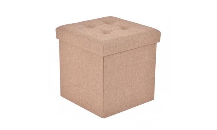 Cube Folding Ottoman Storage Seat ...