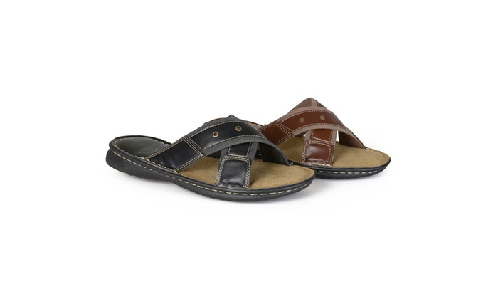 Vance Co. Mens Casual Faux Leather Sandals