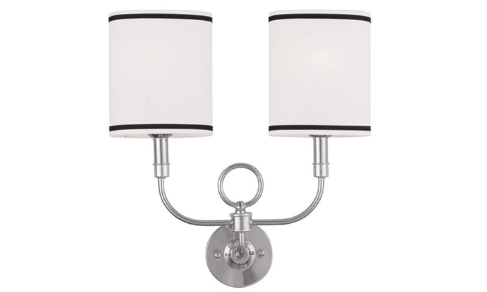 Wall Sconces 2-Light Brushed Nickel Wall Sconce