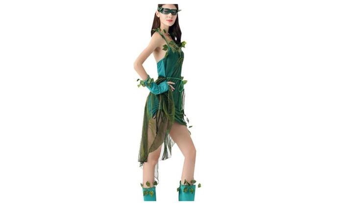 Women's /Ladies Casual Stylish Scalloped Hem Cosplay Costume - Green / One Size