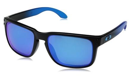 5c271916a3 Oakley Holbrook Prizm Sapphire Polarized Sunglasses Sapphire Fade   Groupon