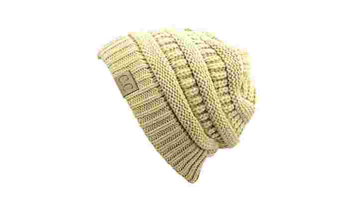 Groupon Goods: Chunky Cable Knit Beanie HAT-1