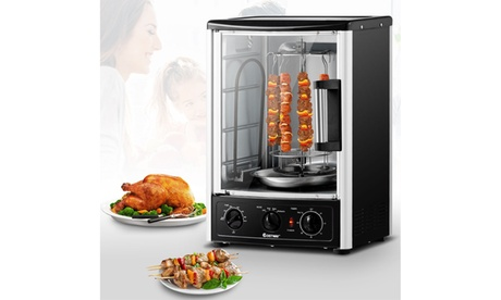 Vertical Rotisserie Oven Grill Shawarma Machine Kebob Skewer Roaster photo