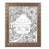 KCDoodleArt 'Fairies and Woodland Creatures 8' Ornate Framed Art