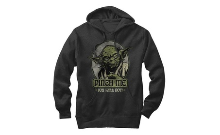 Star Wars Yoda Pinch Me You Will Not Mens Graphic Lightweight Hoodie 0465387c-f169-48e7-a49e-44dde9af1f37