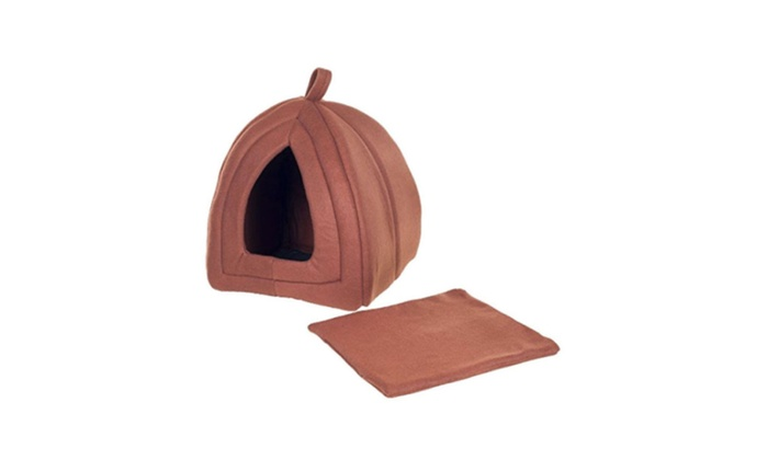New Cozy Kitty Tent Igloo Plush Enclosed Cat Bed  sc 1 st  Groupon & 56% Off on New Cozy Kitty Tent Igloo Plu...   Groupon Goods