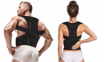 Posture Corrector Magnetic Therapy Back Support Brace Pain Relief