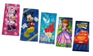 Disney and Marvel Cotton Beach Towel (1- or 2-Pack)