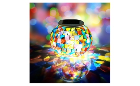 Solar Powered Waterproof Color Changing Mosaic Glass Ball LED Lights 85509680-825e-4926-b616-2dba430b8a2e