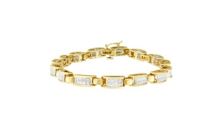 14K Yellow Gold 21/2 CTTW Princess-cut Diamond Link Bracelet (H-I,SI1-SI2) f3be6012-96aa-4ad1-8e07-befdc4b85d4c