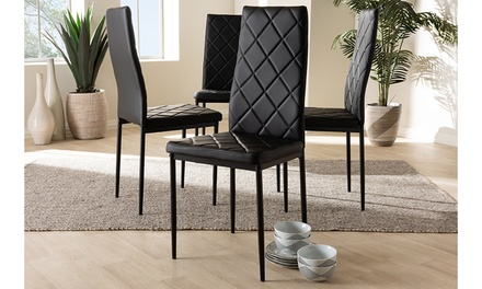 Baxton Studio Blaise Upholstered Dining Chair (4-Pack)