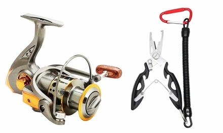 Spinning Reel Freshwater Spinning Fishing Reels with Fishing Pliers Kit