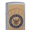 Zippo US Navy Seal Pocket Lighter, Street Chrome 29384