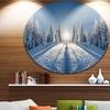 Majestic White Winter Landscape' Landscape Print Wall Artwork