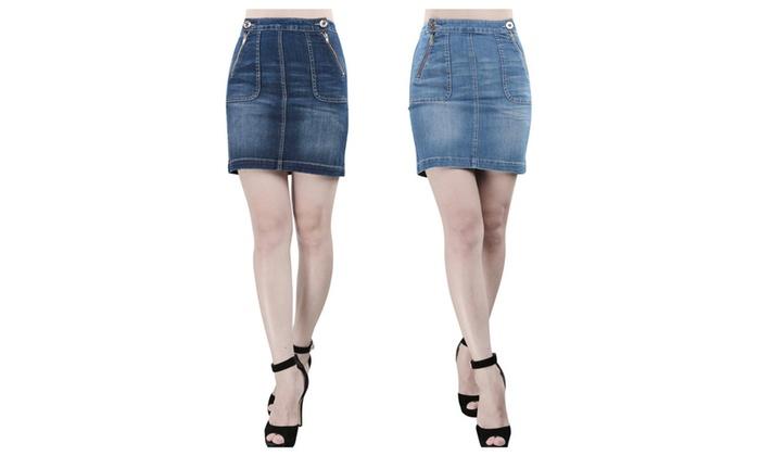 JNTworld Women Denim Skirt Pencil Skirt Midi Skirts Skinny Skirts