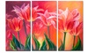 Tulips in Red Shade - Floral Metal Wall Art