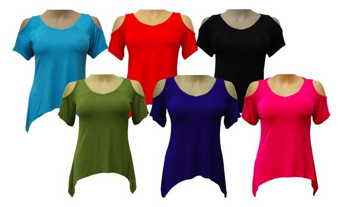 Women's Cold Shoulder Top Shirt
