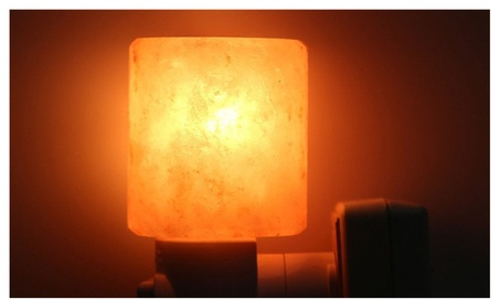 Natural Rock Salt Himalaya Salt Lamp Air Purifier with Wood Base Amber 38cf37c8-b7d4-4217-807b-899bdf156b48