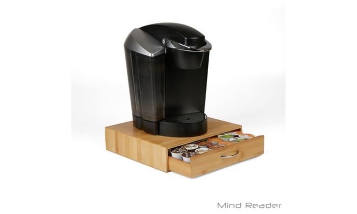 Bamboo Coffee Pod Storage Drawer