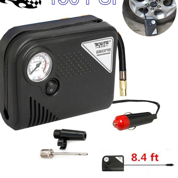 Heavy Duty Tire Inflator Car Air Pump Compressor Portable Auto 12Volt 150 PSI UK