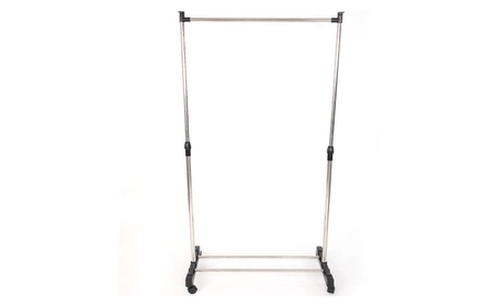 Rolling Clothes Rack Single Rail Hanging Garment Bar Heavy Hanger Pipe 9ff3308d-45c3-4c3e-aa2f-27f6cdead49f