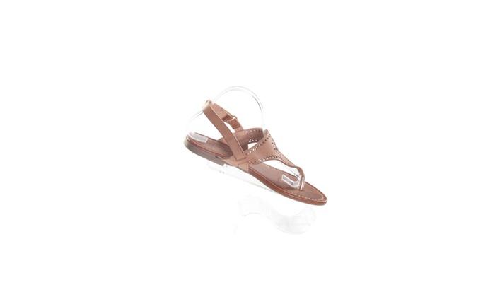 Xehar Women's Casual Open Toe Brown Thong Flat Sandal