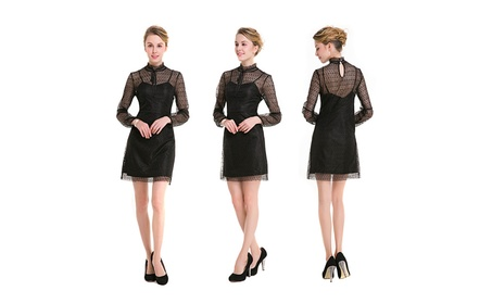 Women's Lace Summer Black Homecoming Dress d0426690-a294-4ea7-b643-9bdf6cbe299c