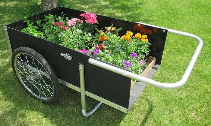 Smart Carts 20 In. Ultimate Gardener Cart High Density Polyethylene  Multi Color