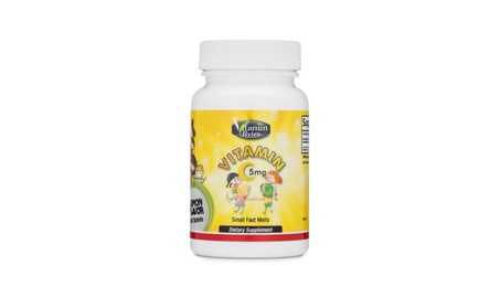 Vitamin C for Kid's 5mg Small Fast Melts. 100 Servings/Lemon Flavored