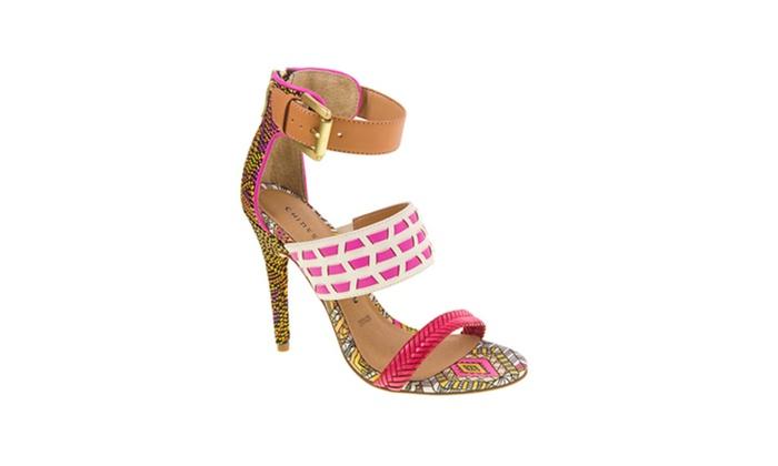 Weaved Pink, White & Orange Pu...