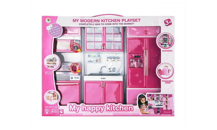 Professional Plastic Play Pretend Kids Kitchen Toy Cooking ...