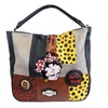 Betty Boop Faux Leather Polka Dot Patchwork Handbag Purse