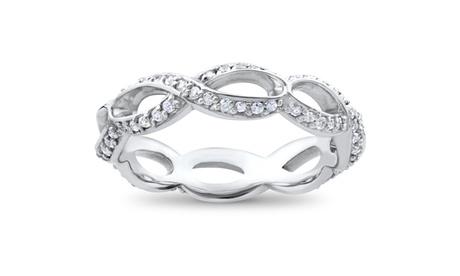 3/4ct Diamond Infinity Eternity Ring 14K White Gold e84c420b-fe8c-453a-834c-fb16df3aa6e5