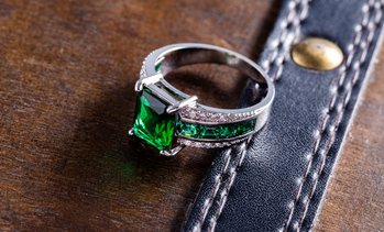 Lab-Grown Emerald Engagement Ring