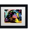 Dean Russo 'Lying Lab' Matted Black Framed Art