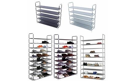 5/10 Tier Stackable Non-woven Storage Organizer Shoe Rack Was: $24 Now: $9.99.