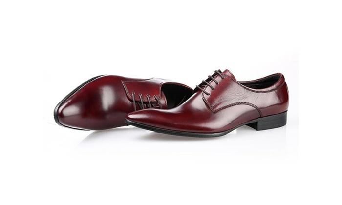 Men's Dress Leather Lace Up Shoes