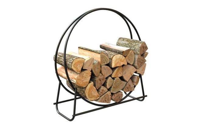 Panacea 15209 Tubular Steel Log Hoop, 40, Black