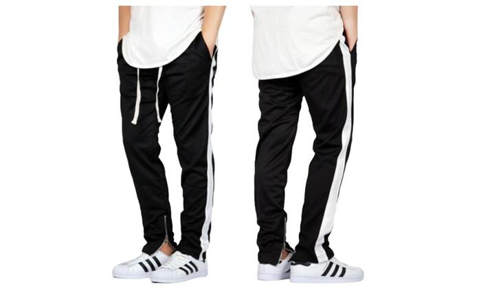 Custom side strip lounge pants