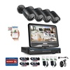 SANNCE 4CH 1080N DVR LCD Monitor 720P IR Cut Night Security Camera