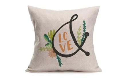 Valentine's Day Cactus Pillow Cases Cotton Linen Cushion Cover d60c22ed-7dfd-470f-b3ef-a85e6ac1a711