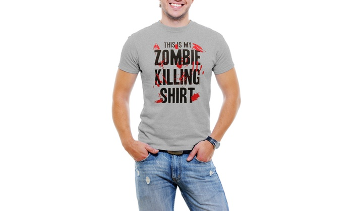 This is My Zombie Killing Men T-Shirt Soft Cotton Short Sleeve Tee