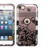 Insten Tuff Lace Hard Dual Silicone Case For Ipod Touch 5 6 Rose Gold