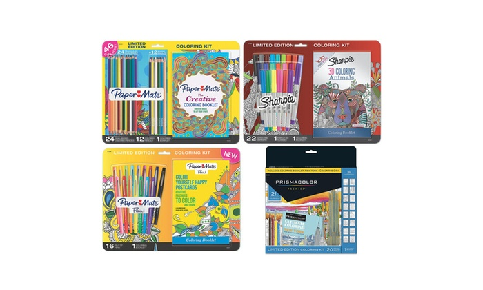 Adult Coloring Book Kits