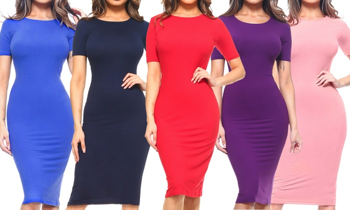 Up To 66% Off on Style Clad Women\'s Bodycon Dress | Groupon ...
