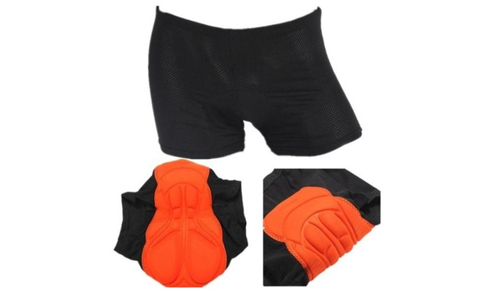Sports Cycling Underwear Gel Padded Pants Riding Underwear. - as picture / one size