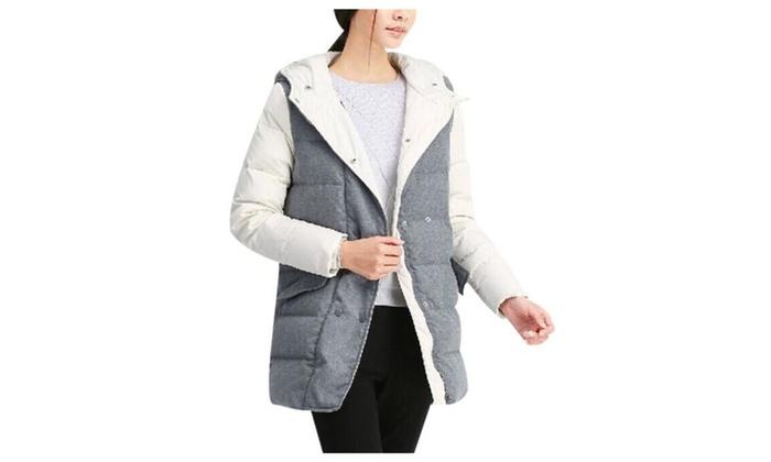 Women's Solid Long Sleeve Simple Windproof Down Coat
