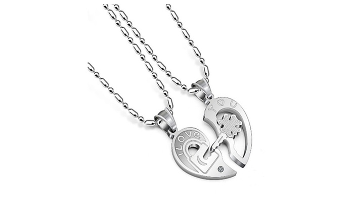 f16690e8e0 Couples Necklaces Stainless Steel Cute Matching Relationship Necklace
