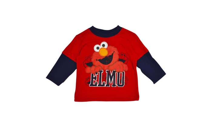 Sesame Street Toddler Boys Elmo Long Sleeve T Shirt Red Groupon